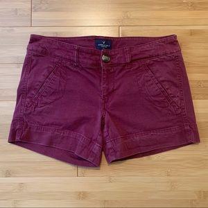Purple American Eagle Midi Shorts   Size 2